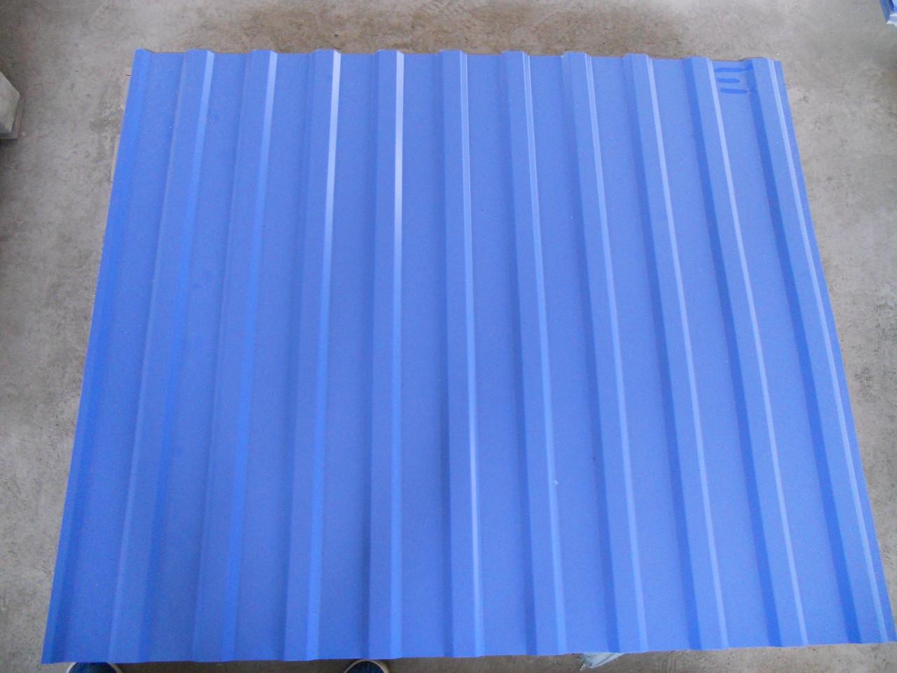 Профнастил RAL 5005-синий 1185/1500мм