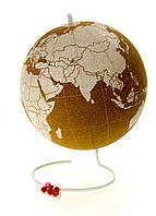 """M12-110015, Глобус планеты """"Земля"""", d=20 см, , бежевый-белый"""
