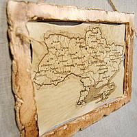Карта из дерева. Деревянная карта.