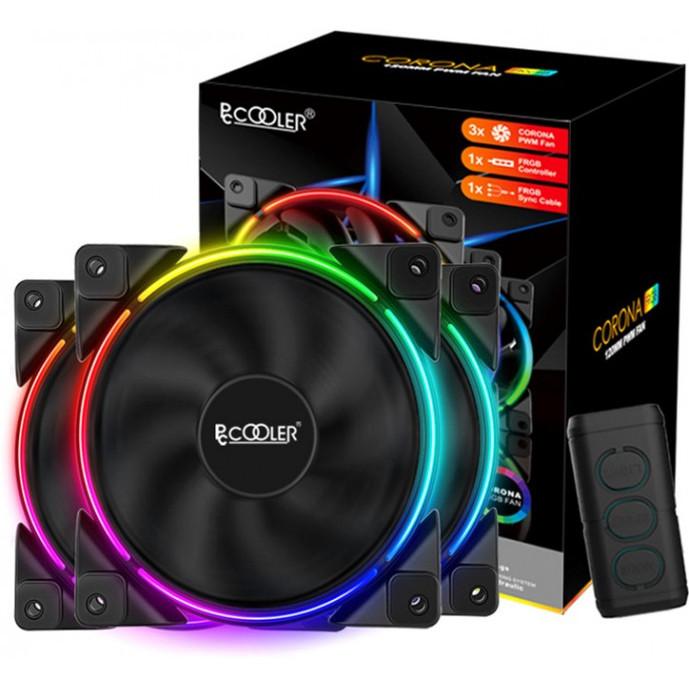 Набор PcCooler RGB-вентиляторов Corona 3-in-1 FRGB KIT