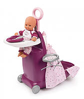 Набор для ухода за куклой Раскладной Чемодан. Прованс  Baby Nurse Smoby 220346