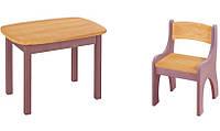 Набор EkoKids №3 цветной (стол+стул) TM Mobler