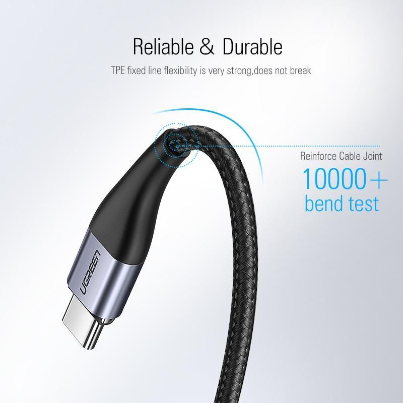 Ugreen Magnetic USB Cable кабель магнитный USB TYPE C 1 метр в оплетке для зарядки и синхронизации. Черный