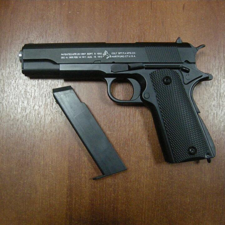 Лучший Пистолет металл Кольт Colt Страйкбольный 1 в 1 с настоящим