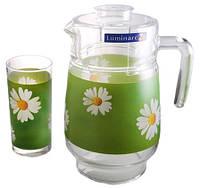 Набор для напитков Luminarc Paquerette Green 7 пр. (g1982)