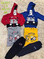 Трикотажный спортивный костюм для мальчиков тройка S&D 1-5 лет