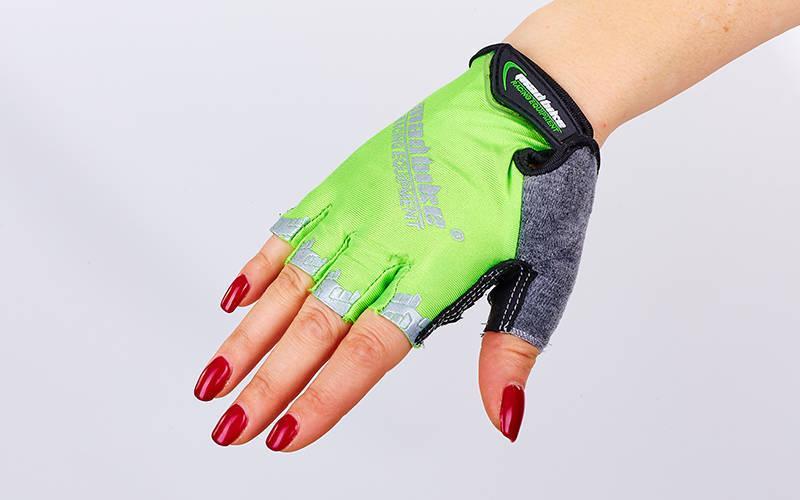 Велоперчатки текстильные MADBIKE SK-01 (открытые пальцы, р-р М-XL, цвета в ассортименте)