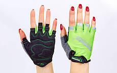 Велоперчатки текстильные MADBIKE SK-01 (открытые пальцы, р-р М-XL, цвета в ассортименте), фото 2