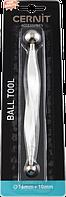 Стеки-шарики металл двусторонние для работы с глиной,мастикой, керамической флористики, Цернит, 16/10мм, фото 1