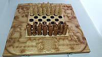 Шахматы - нарды 70х70 Подарочные резные Казаки