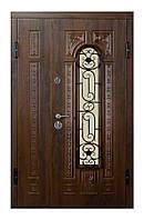 Двери входные ПО-139 дуб темный Vinorit ( Ш 1200 )