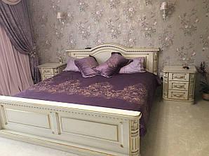 """Кровать (ліжко) """"Престиж""""  из натурального дерева - массив дуба ."""