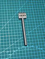 Пробойник шаговый круглый 4 зуба 6 мм строчные просечки вилковые инструмент для кожи
