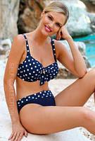 Раздельный купальник на пышную грудь Self 934VGR5 38E синий