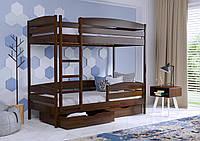 Кровать двухярусная Дуэт Плюс с защитной планкой(бортом), пр-ль Эстелла,бук-щит, магазин МК