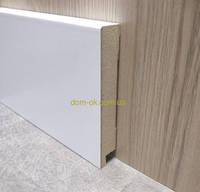 МДФ плинтус Белый Супер Профиль СП 1699 высота 100 мм + есть все цвета