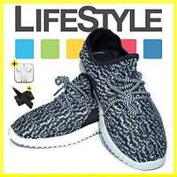 Кроссовки Adidas Yeezy Boost 350 серые. Подростковые + 2 Подарка