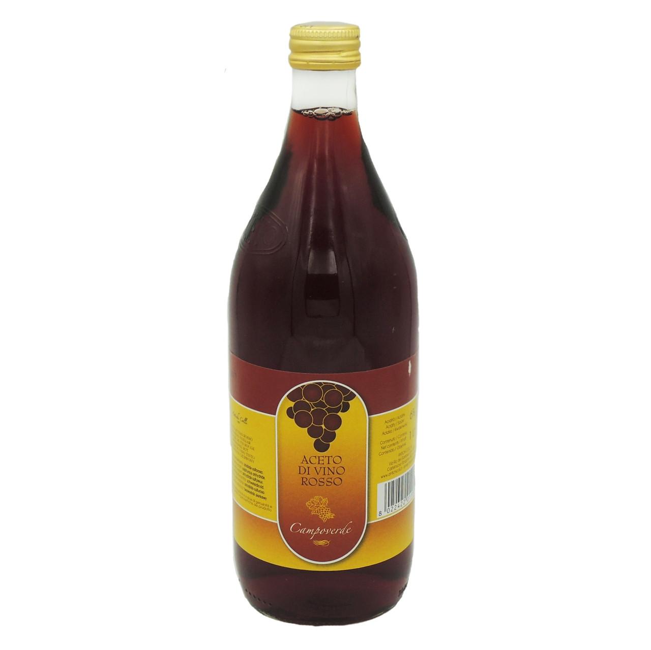 Уксус винный красный 1л (Rosso)