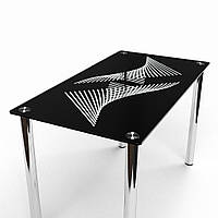 Стол кухонный стеклянный Балтика. Цвет и размер можно изменять. Есть фотопечать и матировка.