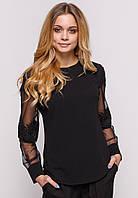 Блузка с кружевом Zubrytskaya черный