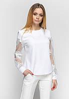 Блузка с кружевом Zubrytskaya молочный