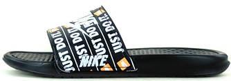 """Мужские шлепки Nike xJust Do It Sleepers """"Black"""" ( в стиле Найк )"""