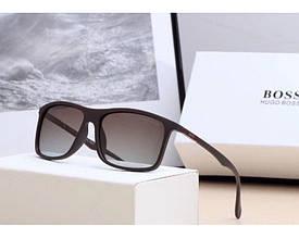 Мужские очки от солнца в стиле Boss (0992) коричневые