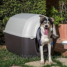 Пластикова будка для собак KENNY Ferplast MINI (Кенні Ферпласт МІНІ) у формі голку, 40*66*40 см