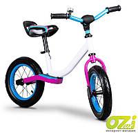 Велобег с надувными колесами Ecotoys BW-1199 белый