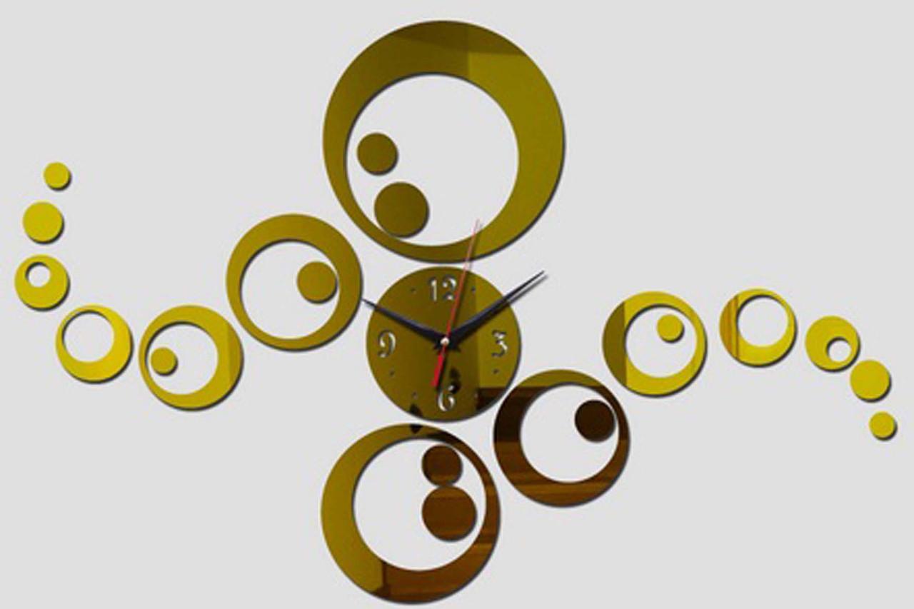 Настенные 3D часы с зеркальным эффектом