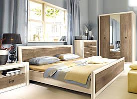 """Меблі у спальню """"Коен 2"""" від БРВ (сосна каньйон / дуб корабельний)"""