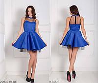 Очаровательное кукольное платье с фатином под юбкой и декольте иллюзия  Margo