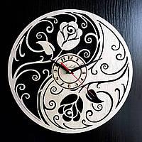 Настенные деревянные часы Shasheltoys Диаметр 35 см (090124)
