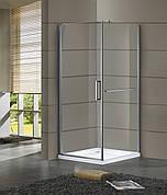 RUDAS душевая кабина 90*90*200 см, квадратная,  распашная, левая, стекло прозрачное (стекла+двери)