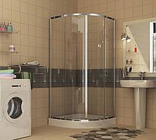 TOKAI душевая кабина 90*90*185 см, профиль хром, стекло прозрачное (стёкла+двери), фото 2