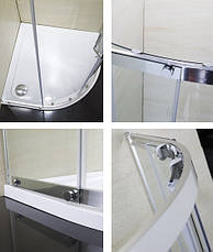 TOKAI душевая кабина 90*90*185 см, профиль хром, стекло прозрачное (стёкла+двери), фото 3