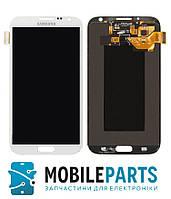 Дисплей для Samsung N7100 | N7105 | N7102 | Note 2 с сенсорным стеклом в рамке (Белый) Тайвань TFT