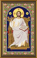 Набор для вышивания бисером икона Спас Вседержитель на Престоле