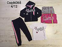 Трикотажный костюм 3 в 1 для девочек оптом, Seagull, 4-12 лет,  № CSQ-46065, фото 1