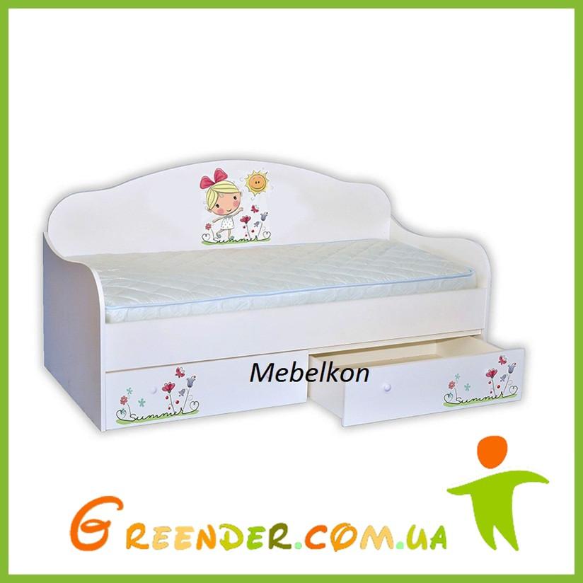 """Кровать диванчик """"Лето с солнышком"""" мебель для детей"""