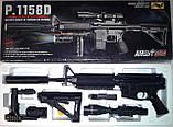 Автомат дитячий 1158D, копія гвинтівки М16, на пульках, лазер, ліхтарик, фото 4