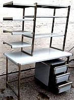 Стол из нержавейки с надстройкой 1200*700*850/1600