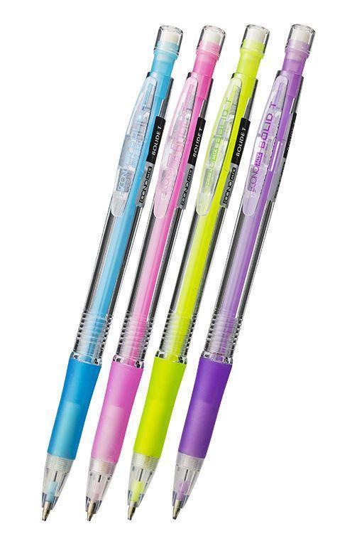 Олівець механічний Economix Bolide HB 0,5 мм, корпус асорті