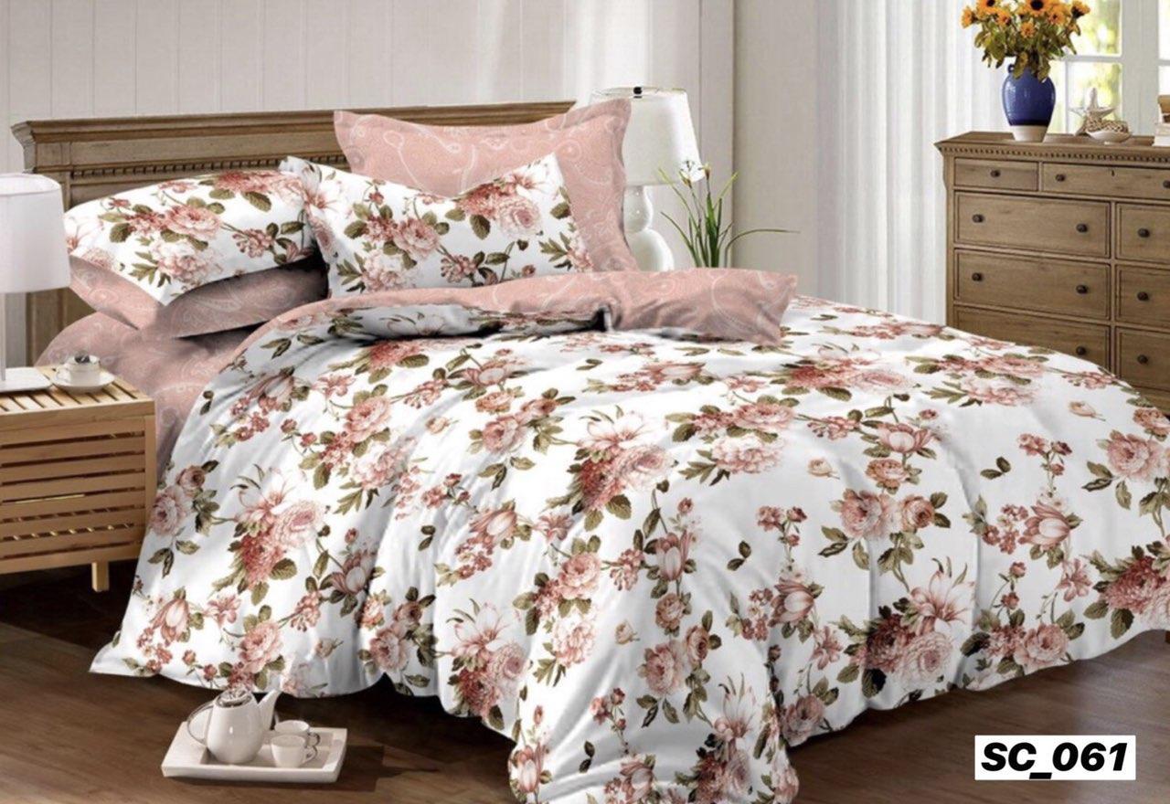 Комплект постельного белья евро размер Сатин