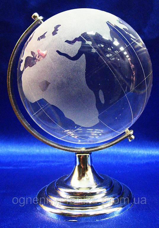 Глобус хрустальный белый - символ стремления к знаниям и активизации удачи - Огненный Феникс в Одессе
