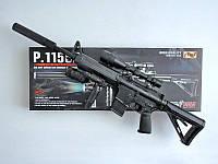 Автомат детский 1158D, копия винтовки М16, на пульках, лазер, фонарик, фото 1