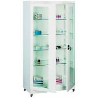 Металлический шкаф медицинский с стеклянными полками Sml 113