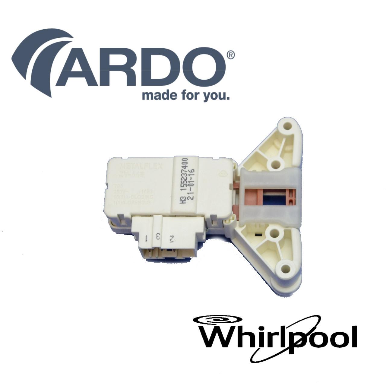 Замок люка для пральних машин Ardo, Whirlpool з вушками (Metalflex ZV-446 H1 / H2 / H3) - 530001501 / 6510167