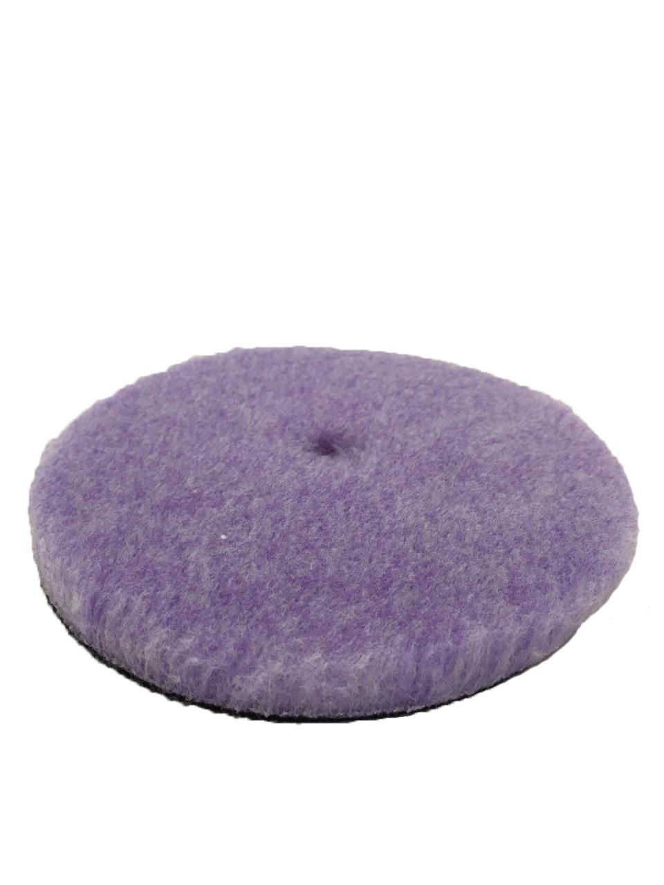 Полировальный круг гибридная шерсть - Lake Country Purple Foamed Wool Buffing/Polishing 150 мм. (58-32625WH-1)