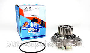 Помпа воды (20 зубов) на VW Crafter, LT, T-4 2.5 TDI 1996-2006 — GRAF (Италия) — PA758